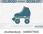 vector illustration of roller... | Shutterstock .eps vector #640857403