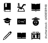 study icons set. set of 9 study ... | Shutterstock .eps vector #640858948