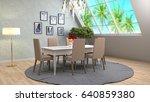 interior dining area. 3d... | Shutterstock . vector #640859380