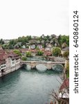 Small photo of view of Bern old town and bridge over the Aare river, Switzerland