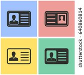 identification card vector... | Shutterstock .eps vector #640860814
