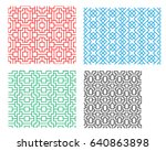 seamless chinese pattern in... | Shutterstock .eps vector #640863898