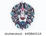 a sketch of the head of a... | Shutterstock . vector #640864114