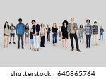 diversity people set gesture... | Shutterstock . vector #640865764