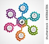 abstract gears infographic.... | Shutterstock .eps vector #640866586