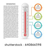 infographics thermometer design ... | Shutterstock .eps vector #640866598