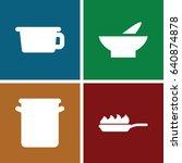 soup icons set. set of 4 soup... | Shutterstock .eps vector #640874878