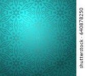 eastern ornamental background... | Shutterstock .eps vector #640878250