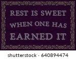 rest is sweet when one has... | Shutterstock .eps vector #640894474