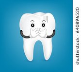 tooth character covering the... | Shutterstock .eps vector #640896520