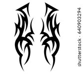 tattoo tribal vector design.... | Shutterstock .eps vector #640903294