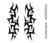 tribal tattoo art designs.... | Shutterstock .eps vector #640903324