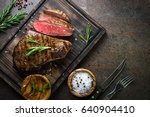 fresh grilled meat. grilled... | Shutterstock . vector #640904410