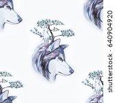 seamless pattern of a beautiful ... | Shutterstock . vector #640904920