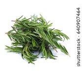 rosemary herbs and medicinal... | Shutterstock . vector #640907464