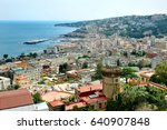 naples panoramic view  italy ... | Shutterstock . vector #640907848