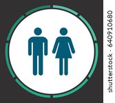 man and woman   toilet ... | Shutterstock . vector #640910680