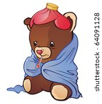 animal,basic,bear,blanket,brown,childhood,cover,cuddly,cute,fuzzy,illness,medical,sick,sickness,soft