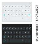 modern smartphone keyboard ...