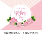 mother's day greeting card with ... | Shutterstock .eps vector #640924624