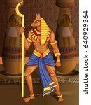 vector design of egyptian... | Shutterstock .eps vector #640929364