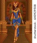 vector design of egyptian... | Shutterstock .eps vector #640929508