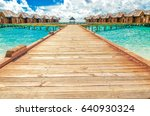 wooden houses  bungalows in the ... | Shutterstock . vector #640930324