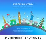 explore the world   travel... | Shutterstock .eps vector #640930858