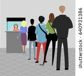 turn. people stand in line | Shutterstock .eps vector #640931386