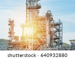 oil and gas industry refinery... | Shutterstock . vector #640932880