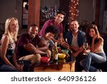 young adult friends having a...   Shutterstock . vector #640936126