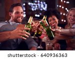 young adult friends make a... | Shutterstock . vector #640936363