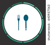 simple fork and spoon. flat... | Shutterstock . vector #640937563
