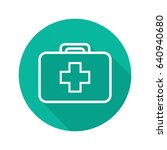 medical service flat linear... | Shutterstock .eps vector #640940680
