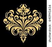 golden vector pattern on a... | Shutterstock .eps vector #640941616
