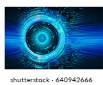 future technology and blue... | Shutterstock .eps vector #640942666