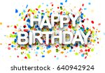 happy birthday paper background ... | Shutterstock .eps vector #640942924