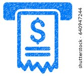 Grunge Cheque Payment Icon Wit...