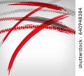 motorcycle tire tracks vector... | Shutterstock .eps vector #640948384