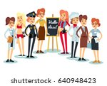 team happy people concept... | Shutterstock .eps vector #640948423