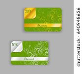 discount card templates with... | Shutterstock .eps vector #640948636