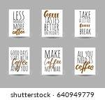 make coffee not war.less...   Shutterstock .eps vector #640949779