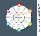 infographic pie chart circle... | Shutterstock .eps vector #640951420