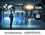 side view of businessman with... | Shutterstock . vector #640955419