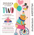 kids birthday party invitation... | Shutterstock .eps vector #640955764