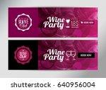 banner template  flyer or gift... | Shutterstock .eps vector #640956004