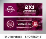 banner template  flyer or gift... | Shutterstock .eps vector #640956046