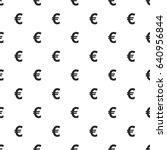 euro sign seamless pattern ... | Shutterstock .eps vector #640956844