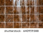 Texture Of Old Brown Tile With...