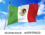 flag of mexico developing... | Shutterstock . vector #640959820